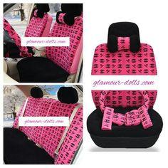 chanel universal car mat set coco chanel pinterest housses de si ge de voiture housses de. Black Bedroom Furniture Sets. Home Design Ideas