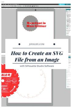 How to Create an SVG File from an Image with Silhouette Studio Silhouette Curio, Silhouette Cameo Projects, Sawdust Is Man Glitter, Craft Cutter, Studio Software, Create Image, Useful Life Hacks, Svg File, Hand Lettering