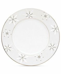 Lenox Dinnerware, Federal Platinum Holiday Accent Plate - Holiday Dining - Dining & Entertaining - Macy's
