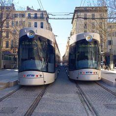 Les tramways de Marseille....
