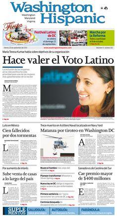 Edición impresa del 20 de Septiembre de 2013: http://washingtonhispanic.com/index.php?mod=historico&id=306