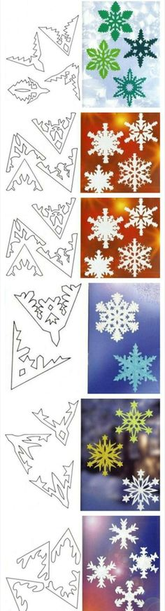more paper snowflakes                                                                                                                                                                                 Plus