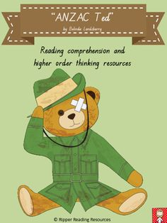 ANZAC Ted bundle - HOT reading activities - by Ripper Reading Resources Rhyming Word Game, Word Games, Reading Comprehension Activities, Reading Resources, Anzac Day For Kids, Hot Reading, Vocabulary Word Walls, Thinking Maps, Higher Order Thinking