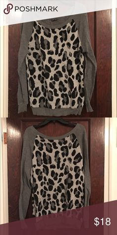 Express cheetah print sweater! Express cheetah print sweater! Express Tops