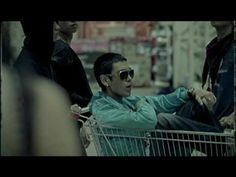 Big Bang - 거짓말 (Lies). That time when they all roller-bladed in an underground parking lot and TOP rode in a shopping cart. #kpop