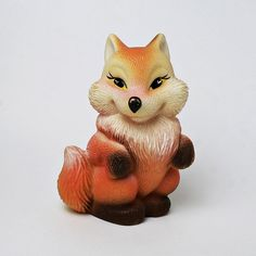 Rubber Fox Squeaky Toy on Etsy Vintage Toys, Fox, Teddy Bear, Funny, Etsy, Animals, Animales, Animaux, Teddybear
