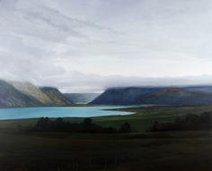 Olivier Masmonteil, Tekapo lake, 2015, Oil on canvas, 200 x 250 cm, Courtesy Galerie Dukan | Galerie Dukan