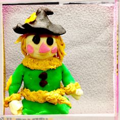Wizard of Oz Scare Crow made with Play-Doh