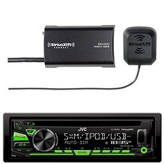 JVC KDR680S Car CD Player Receiver Bluetooth USB AUX Radio  Bundle Combo With SiriusXM SXV300v1 Satellite Radio Connect Vehicle Tuner Kit *** To view further for this item, visit the image link.