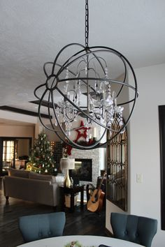 LightUpMyHome Inch Iron Orb Sphere Crystal Chandelier Reviews - Crystal chandelier in dining room