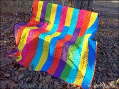 quilt with vibrant colors - des couleurs vives et petantes
