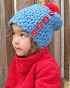 CROCHET PATTERN  Button Up  a slighly slouchy hat by TheHatandI, $5.50