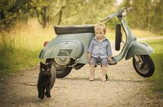 Vespa days — Only a Vespa can work with children and animals...