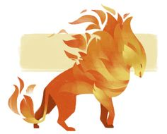 122: Fire Cat Wanted to try something new with my drawings and I've been itching to draw some sort of fantasy cat- so I used the opportunity to make this flame lion. Had a lot of fun with this one!