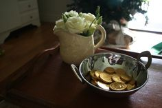 Roses and chocolate coins