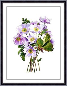 Watercolor Painting Art Print - FLOWERS - home decor and wall art - 5x7 or 8x10 inch