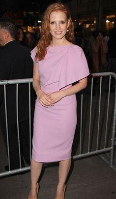 Jessica Chastain in lilac Roksanda Ilincic
