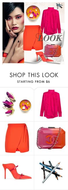 """Color me pretty"" by fl4u ❤ liked on Polyvore featuring Balmain, River Island, Chanel, Malone Souliers, Styli-Style, coral, colors and spring2016"