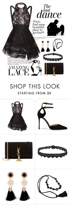 """""""The Last Dance"""" by conch-lady ❤ liked on Polyvore featuring Anja, Elie Saab, Sergio Rossi, Yves Saint Laurent, Salsa, Jade Jagger, women's clothing, women's fashion, women and female"""
