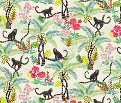 Tropical Monkeys fabric by jill_o_connor on Spoonflower - custom fabric