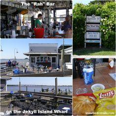Lunch on the Jekyll Island Wharf near the Jekyll Island Club Hotel