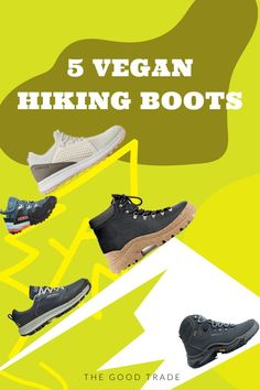 After a long winter (and three earlier seasons of staying relatively indoors), we're cautiously ready to get back outside however we can. Whether you're gearing up to go on an Earth Day hike or weekend-long camping trip, a good pair of boots is a must-have.// The Good Trade // #thegoodtrade #clothing #fashion #ecoconscious #vegan #hiking #hikingboots #boots #outdoors Vegan Hiking Boots, Ethical Shoes, Best Trade, Ethical Brands, Vegan Shoes, Long Winter, Vegan Leather, Leather Boots, Outdoors
