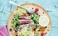 A lovely lunch or delectable dinner, this sesame seared tuna recipe in our clean eating cookbook is one sure-fire way to get you on the nourishing bandwagon and enjoy some seriously delicious clean eaten' cookin'!