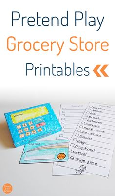 Pretend Play: Grocery Store Printables - Create in the Chaos Printable Crafts, Printables, Play Grocery Store, Play Food Set, Free Groceries, Price Tags, Printer Paper, Grocery Lists, Easy Crafts For Kids