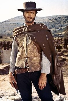 Clint Eastwood in the man with no name (Blondie )The Good, the Bad and the Ugly (1966)