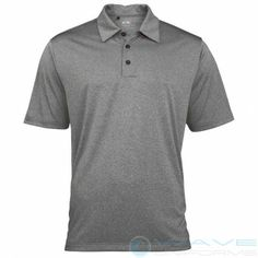Adidas Mens ClimaLite heather short sleeve polo on WaveUniforms