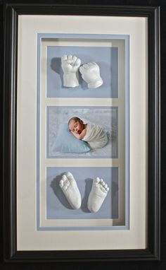 Framed baby lifecasting clarelegance.com Hamilton, Ontario Clarelegance - Sculptures of Beauty and Love