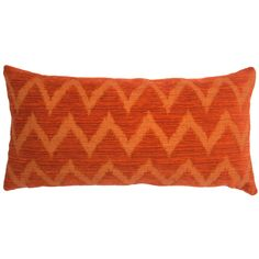 """Evoking a desert sunset, the Square Feathers Miami Chevron throw pillow captivates in bold tones of orange and red. A striking zigzag pattern sweeps across a textured background, refreshing modern spaces with captivating design. An alluring blend of fabrics proves both indulgent and incredibly soft. Available in: 12""""W x 24""""H; 20""""W x 20""""H; 22""""W x 22""""H; 24""""W x 24""""H; and 26""""W x 26""""H; Cotton, polyester, rayon; 95% feather/5% down insert inclu..."""
