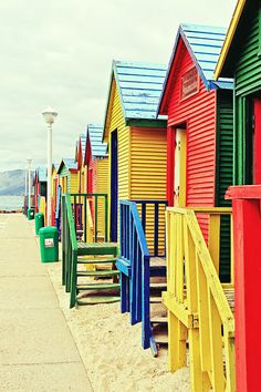 St James Beach Huts, Cape Town, South Africa
