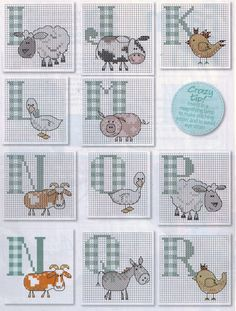 Farming Animals Alphabet 2 Gallery.ru / Фото #33 - Cross Stitch Crazy 141…