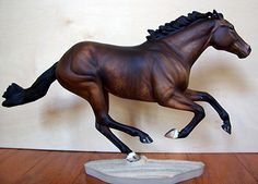 Dapple Bay Thoroughbred stallion, customized from the Breyer Smarty ...