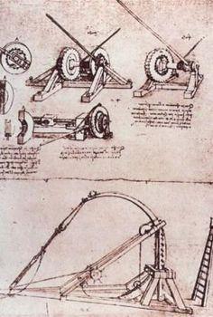 Leonarda da Vinci Hayatı ve İcatları. 1485 - 1490 yıllarında doğa, mekanik, geometri, uçan makineler, kiliseden kale ve kanal yapımına kadar her türlü mimari ile ilgilendi; anatomi çalışmaları yaptı; öğrenciler yetiştirdi. İlgi alanı o kadar genişti ki başladığı çoğu işi bitiremiyordu. 1490 - 1495 yıllarında çalışmalarını ve çizimlerini deftere kaydetme alışkanlığı geliştirdi. Bu çizimler ve defter sayfaları, müzeler ve kişisel koleksiyonlarda toplanmıştır.
