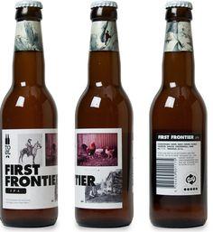 Cerveja To Øl First Frontier, estilo India Pale Ale (IPA), produzida por To Øl, Dinamarca. 7.1% ABV de álcool.