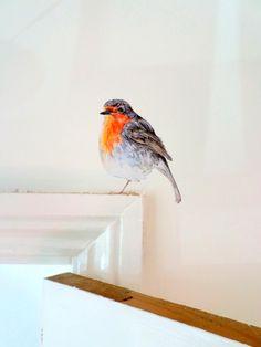 Robin-Wand-Aufkleber Robin Dekor Vogel Wandtattoo | Etsy