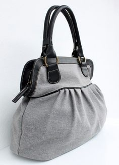 SALE - 10% OFF - Gray Tote Handbags, Diaper bag, Women handbag, Travel bag, School bag on Etsy, $39.99