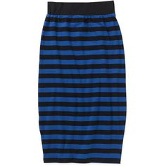 Women's Striped Knit Bodycon Skirt: Women : Walmart.com