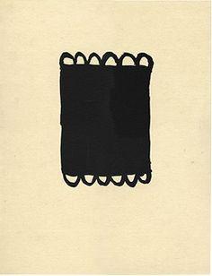 Joan Hernández Pijuan A la pedra 1 (2003) Lithograph glued back on Japan paper