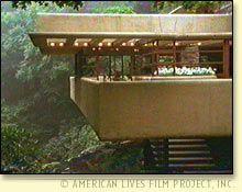 Fallingwater terrace by Frank Lloyd Wright