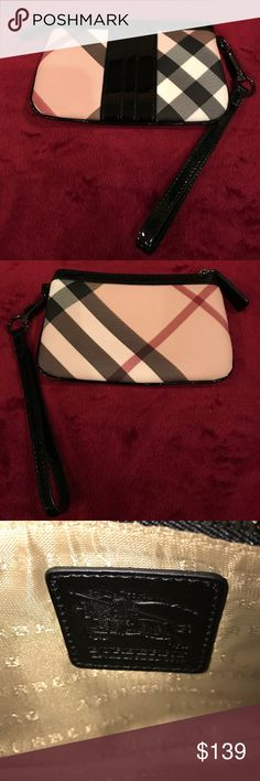 Burberry Nova Newland wristlet NWOT✨ Burberry Nova Newland wallet/wristlet.  It was a gift & has never been used, but has a small scuff on the bottom (see last pic). It must've happened while it was stored in my closet. I don't have the dust bag or card, I can't find them. I did have them at one time, along with the purchase tab, so I'm sure it's authentic. I've just done quite a bit of moving since I got it. Let me know if you'd like any additional pics/info. PRICE IS NEGOTIABLE!  trades…