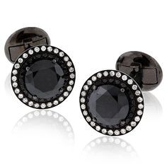 Black Diamond Cufflinks | SimpsonJewelers.com