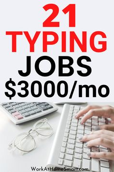 Looking for the best work from home typing jobs to make money? Here's a collection of legitimate companies with typing jobs from home without investment. Get started today! Online Typing Jobs, Online Jobs For Moms, Best Online Jobs, Work From Home Typing, Work From Home Jobs, Online Job Opportunities, Legitimate Online Jobs, Write Online, Earn Money Online