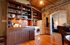 Wood Ceilings, Bedroom Loft, Wall Storage, Exposed Brick, Large Windows, Kitchen And Bath, Beams, Living Room, The Originals