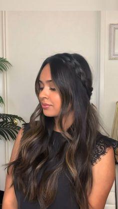 Easy Hairstyles For Long Hair, Long Wavy Hair, Braids For Long Hair, Cute Hairstyles, Summer Hairstyles, Short Hair, Long Brunette Hairstyles, Long Bangs, Braided Hairstyles Tutorials