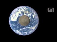 Nasa registra passagem da Lua em frente à Terra; veja vídeo