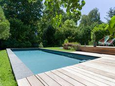 L'esprit familial par l'esprit piscine - 8 x 3,50m Fond en pente composée allant…