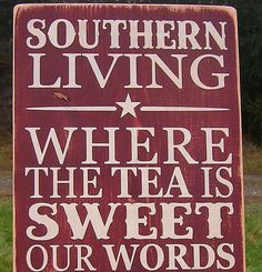 Southern Living Distressed Wood Sign The South